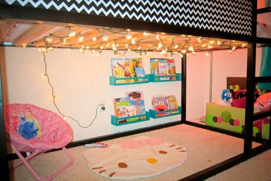 diy chevron ikea kura bed hack mommyneurotic. Black Bedroom Furniture Sets. Home Design Ideas