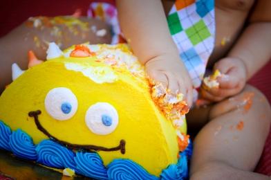 K 1 Year Cake Smash 2